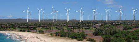 Simulated View of Wind Turbines on Molokai